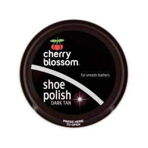 Cherry Blossom Shoe Polish Dark Tan 50ml