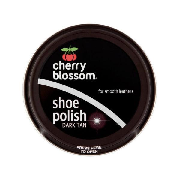 Cherry Blossom Shoe Polish Dark Tan 50ml