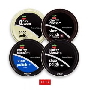 Cherry Blossom Shoe Polish Black, Brown, Neutral and Navy Blue